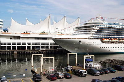 Photograph - Canada Place And Cruise Ship by Devinder Sangha