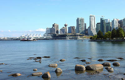 Canada Place And The Vancouver Bc Skyline Canada. Art Print by Gino Rigucci