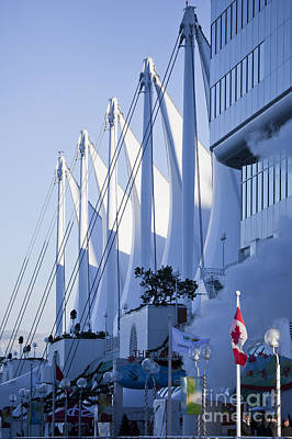 Photograph - Canada Place Sails Two by Chris Dutton