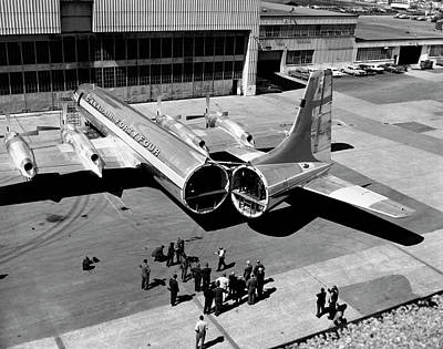 Quebec 1950s Photograph - Canadair Forty Four Turboprop by Underwood Archives
