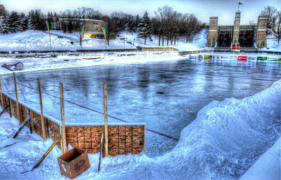 Pond Hockey Photograph - Canada's Game by Rob Andrus
