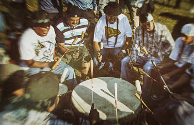 Photograph - Canadian Aboriginal Drummers by Eduardo Tavares