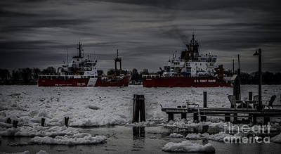 Photograph - Canadian And United States Icebreakers by Ronald Grogan