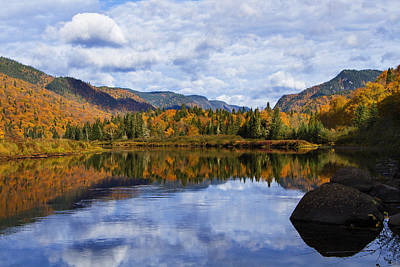 Laurentians Photograph - Canadian Autumn by Mircea Costina Photography