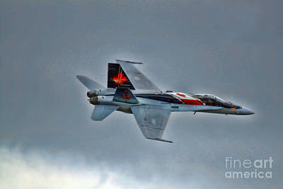 Photograph - Canadian Cf18 Hornet Fly By by Cathy  Beharriell