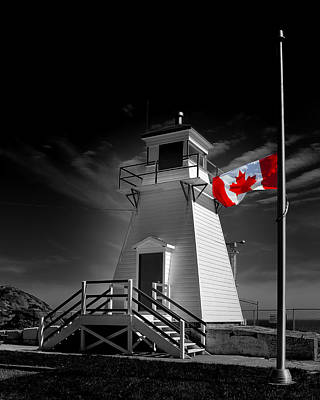 Photograph - Canadian Flag Half-mast by Steve Hurt
