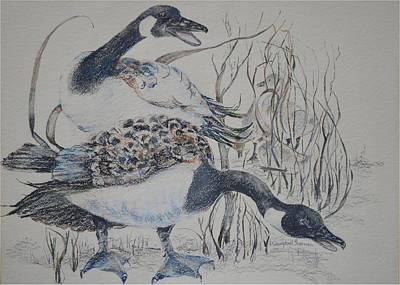 Canadian Geese Art Print by Dorothy Campbell Therrien
