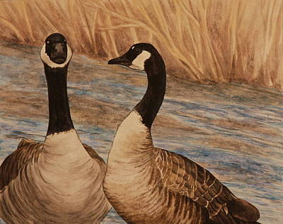Geese Painting - Canadian Geese by Michelle Miron-Rebbe