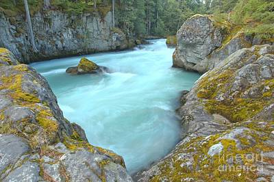Photograph - Canadian Glacier Fed River by Adam Jewell