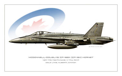Iraq Digital Art - Canadian Hornet by Peter Van Stigt