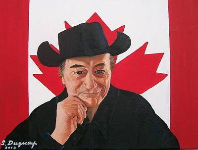 Painting - Canadian Icon Stompin' Tom Conners  by Sharon Duguay