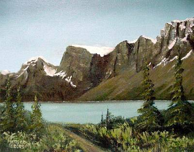 Art Print featuring the mixed media Canadian Lake by Kenny Henson