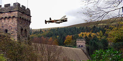 Photograph - Canadian Lancaster Vr-a At The Derwent Dam by Gary Eason