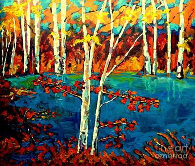 Laurentians Painting - Canadian  Landscape Artist Carole Spandau by Carole Spandau