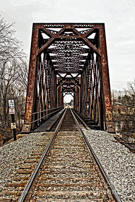 Photograph - Canadian National Railway Truss Bridge by Ms Judi