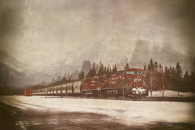 Digital Art - Canadian Pacific In Banff  by Eduardo Tavares