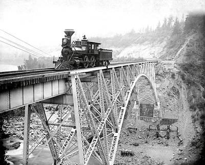 Brakeman Photograph - Canadian Pacific Railroad  1892 by Daniel Hagerman