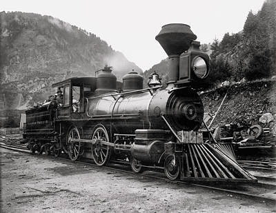 Canadian Pacific Photograph - Canadian Pacific Steam Locomotive Columbia C. 1885 by Daniel Hagerman