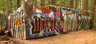 Photograph - Canadian Pacific Train Wreck Graffiti by Adam Jewell