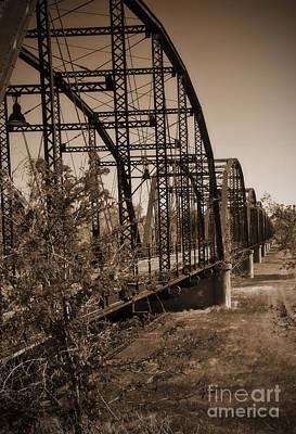 Photograph - Canadian River Wagon Bridge by Fred Lassmann