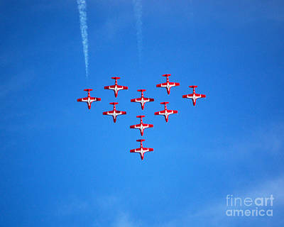Photograph - Canadian Snowbirds Heart Formation by Debra Thompson
