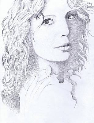Sarah Mclachlan Drawing - Canadian Songstress by Paul Smutylo
