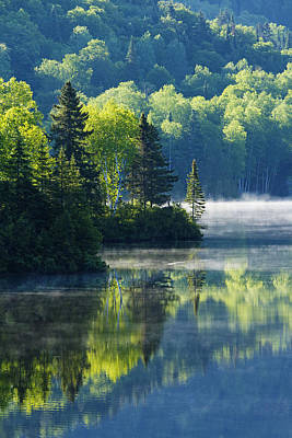 Laurentians Photograph - Canadian Summer Morning by Mircea Costina Photography