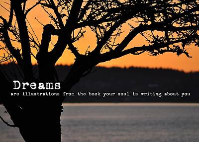 Dream Photograph - Canadian Sunset Quote by JAMART Photography