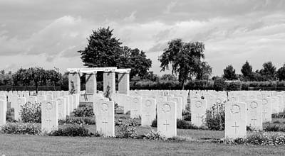 Photograph - Canadian War Cemetery by Andrea Mazzocchetti