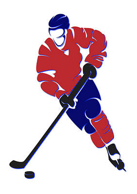Montreal Canadiens Photograph - Canadiens Shadow Player by Joe Hamilton