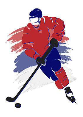 Montreal Canadiens Photograph - Canadiens Shadow Player2 by Joe Hamilton