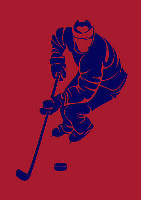 Montreal Canadiens Photograph - Canadiens Shadow Player3 by Joe Hamilton