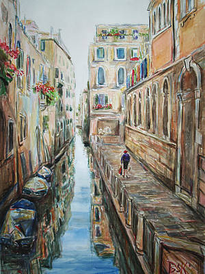 Painting - Canal 4 Returning Home by Becky Kim