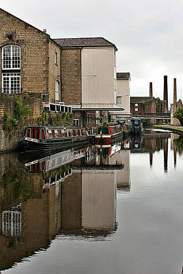 Photograph - Canal And Chimneys by Jeremy Hayden