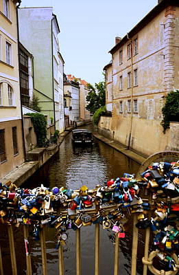 Photograph - Canal And Locks In Prague by Caroline Stella