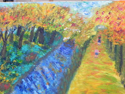 Painting - Canal And Towpath by Ernie Goldberg