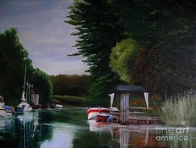 Painting - Canal At Dawn by Ronald Tseng