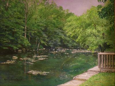 Canal At Prallsville Mills Art Print by Aurelia Nieves-Callwood