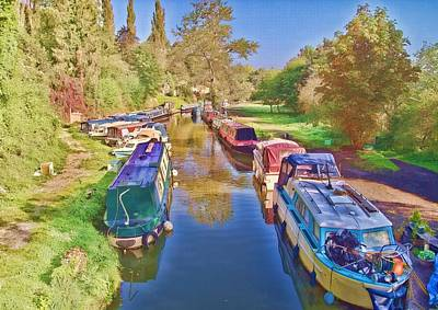 Canal Barges Art Print by Paul Gulliver