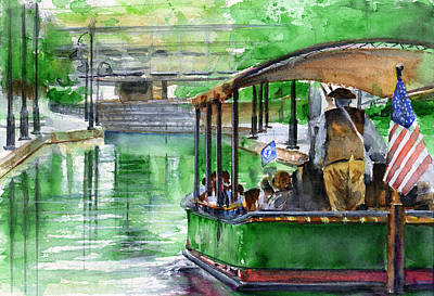 Canal Boat In Richmond Original by John D Benson