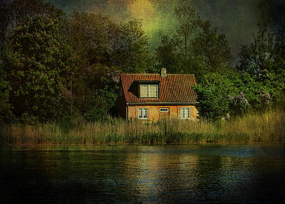 Canal Cottage Art Print