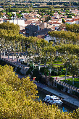 Canal De La Robine Overview Art Print by Panoramic Images