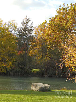 Photograph - Canal Fall Color Trees - M Landscapes Fall Collection No. Lf15 by Monica C Stovall