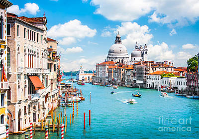 Accademia Photograph - Canal Grande In Venice by JR Photography