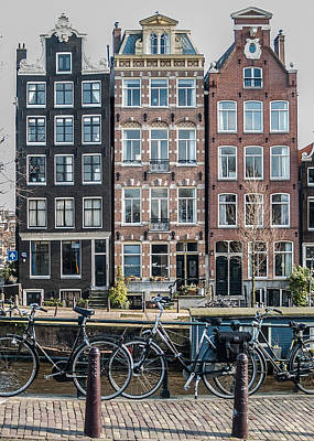 Photograph - Canal Houses Amsterdam by Marinus Ortelee