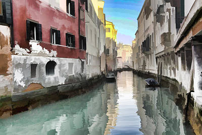 Photograph - Canal In Venezia Italy by Indiana Zuckerman