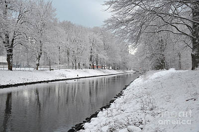 Photograph - Canal In Winter by Randi Grace Nilsberg