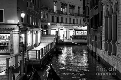 Photograph - Canal Lights by John Rizzuto