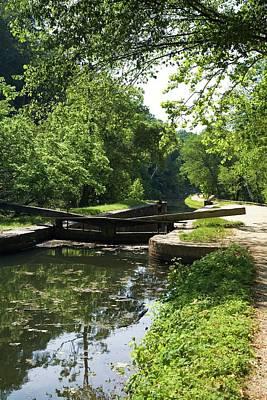 Canal Lock Art Print by Jim West