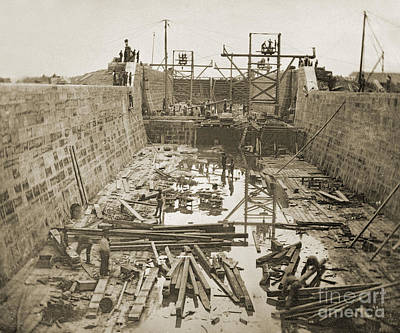 Photograph - Canal Lock Under Construction, 1849 by Getty Research Institute